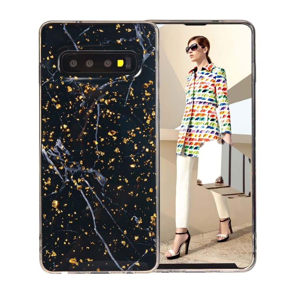 Samsung Galaxy S10 skal glitter marmor